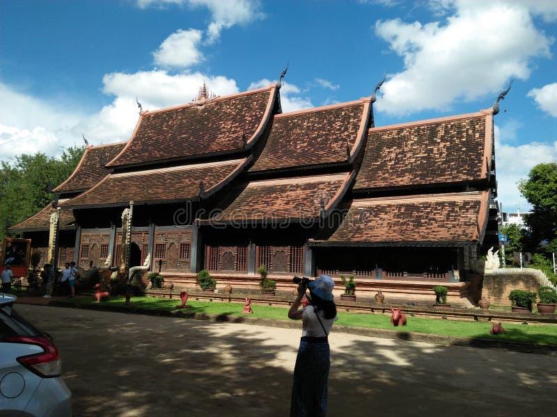 @Thailand do templo do budismo, Chiang Mai fotos de stock