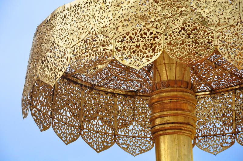 Thailand, doi suthep Tempel in Chiang Mai, Gold-stupa als symbo lizenzfreies stockfoto