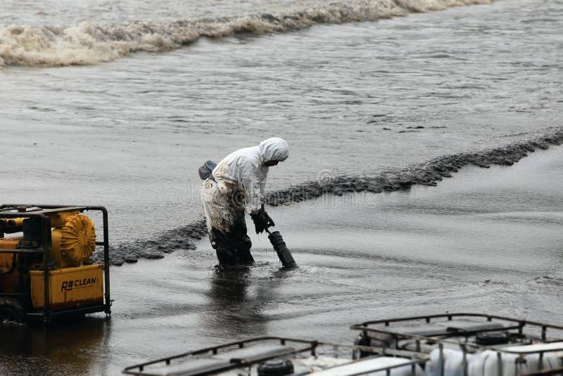 THAILAND-ENVIRONMENT-OIL-POLLUTION 库存图片