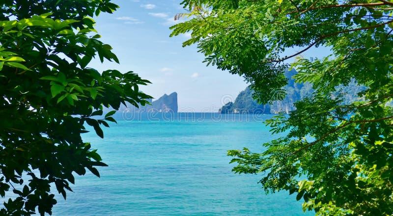 thailand för angthongnationalparkhav sikt royaltyfri fotografi