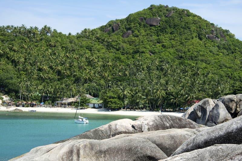 thailand för strandkohsamui yacht arkivbild