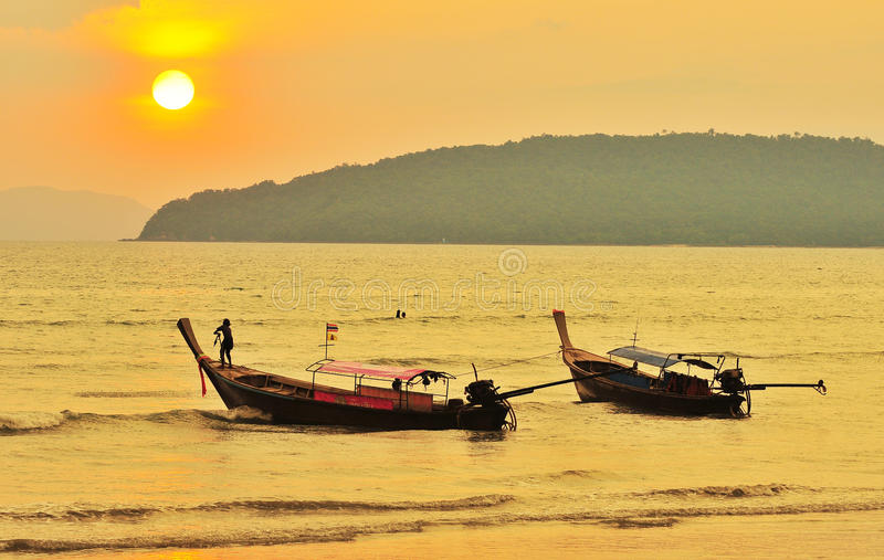Thailand Fisher Boat Royalty Free Stock Image