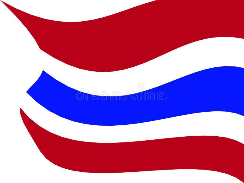 Thailand flaggaillustration royaltyfri bild