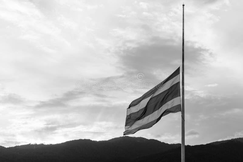Thailand-Flagge beklagen lizenzfreies stockfoto