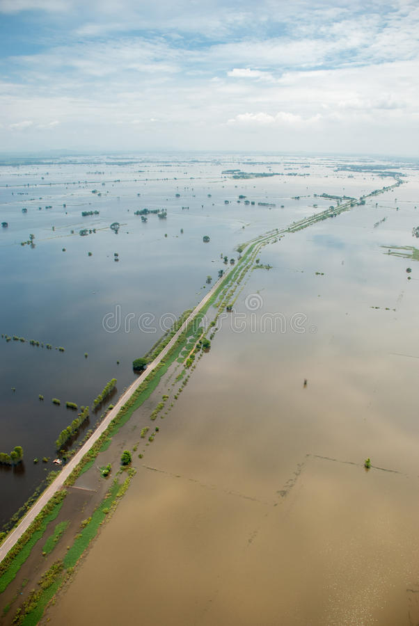 Thailand floods royalty free stock photo