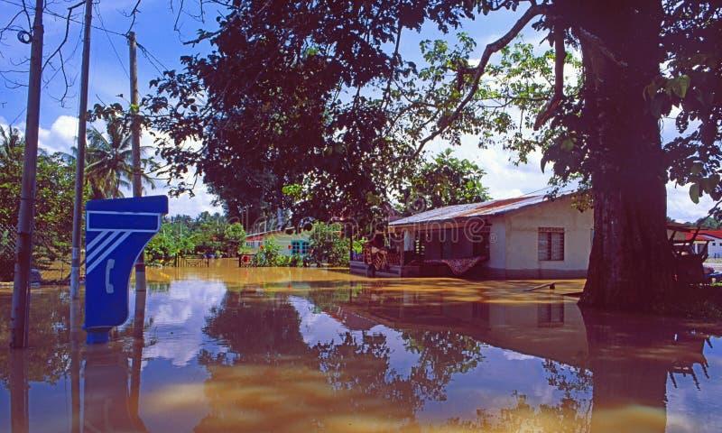 Thailand: Floods near Sukkhothai royalty free stock photo