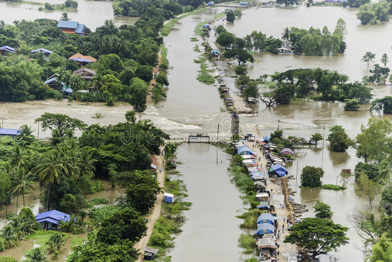 Thailand floods royalty free stock image