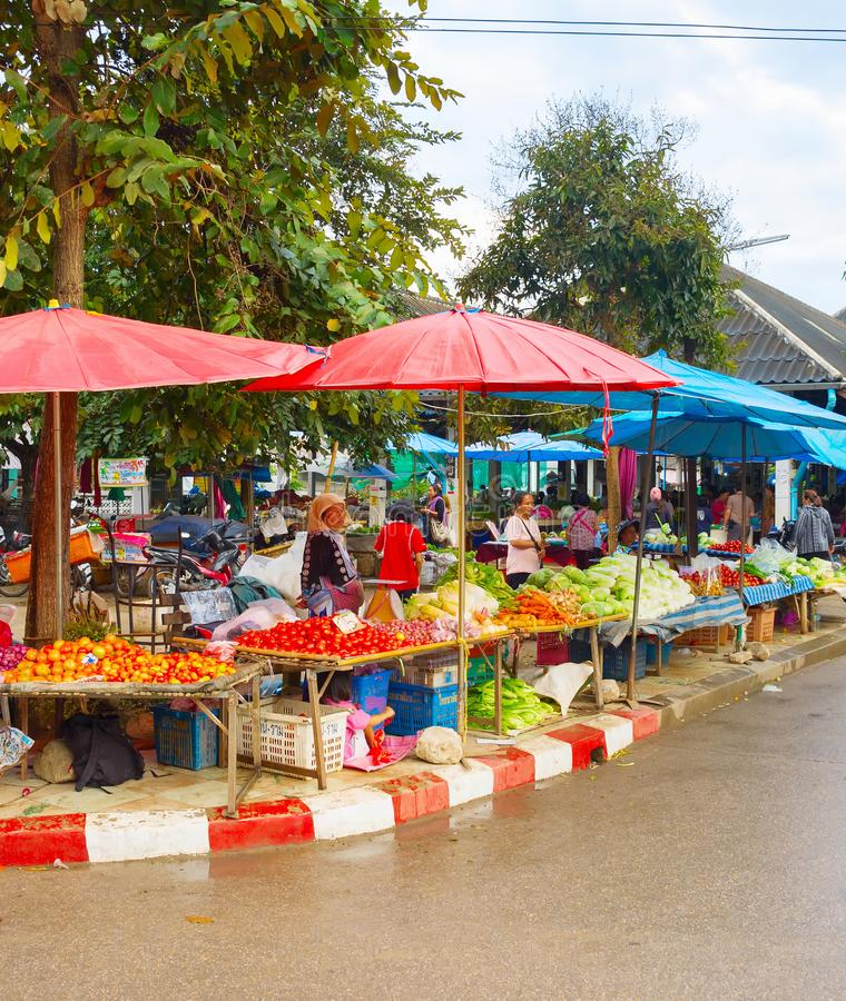 Thailand food grocery market vegetable royalty free stock image
