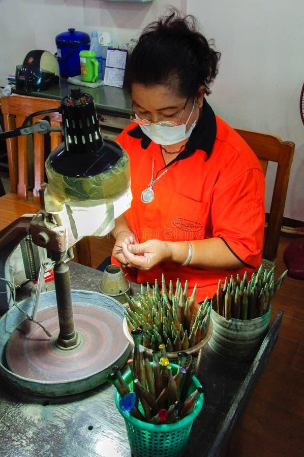 Thailand - Frau - Arbeitskraft lizenzfreie stockbilder