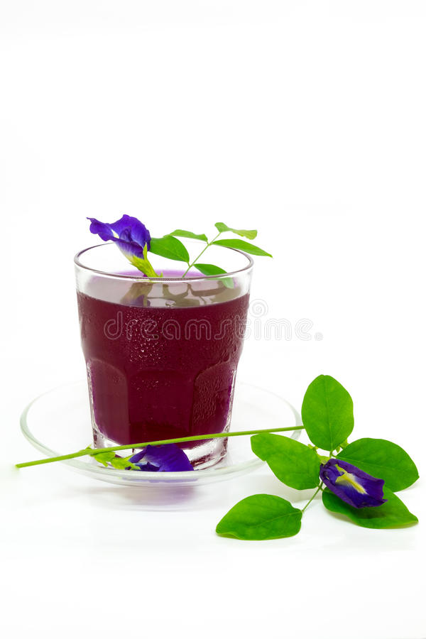 Thailand fresh healthy herbal beverage An-chan juice with lemon juice. royalty free stock photos