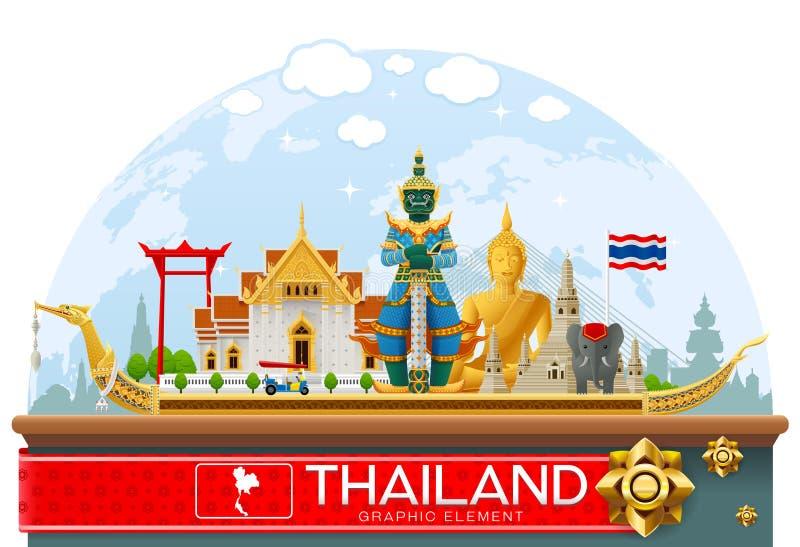 Thailand gränsmärkelopp stock illustrationer