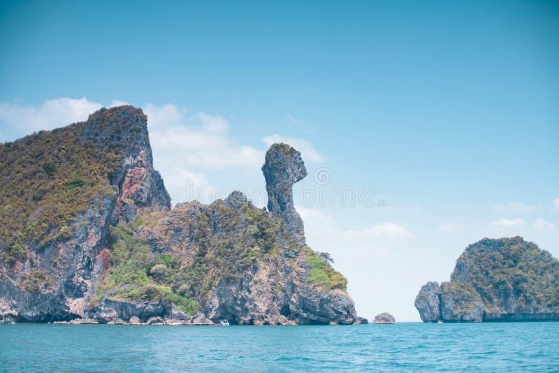 Thailand härlig vit sandig strand arkivfoton