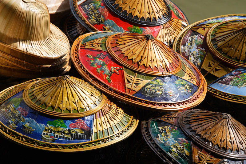 Thailand-Hüte lizenzfreie stockfotos