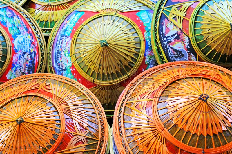 Thailand Traditional Bamboo Conical Hats stock photography