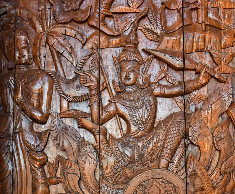 Thailand-Holzschnitzen lizenzfreies stockbild