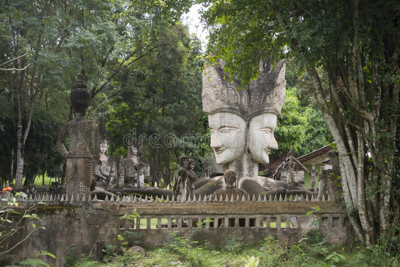 THAILAND ISAN NONG KHAI SALA KAEW KU SCULPTURE PARK stock photo
