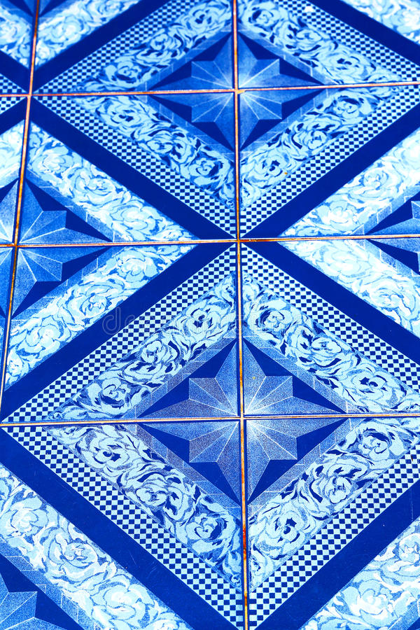 Thailand kho phangan abstract cross ceramics in the temple royalty free stock photo