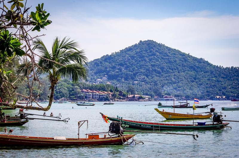 Thailand Koh Tao Boats South East Asia stock foto