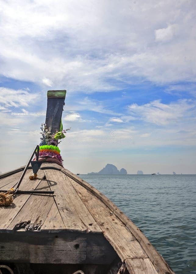 Thailand Krabi landskap Öarna i det Andaman havet fartyg arkivfoto