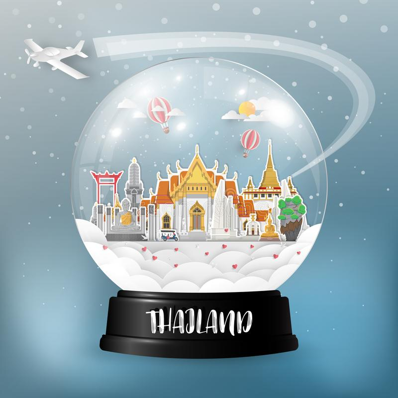 Free Thailand Landmark Global Travel And Journey Paper Background. Ve Royalty Free Stock Photos - 121938478