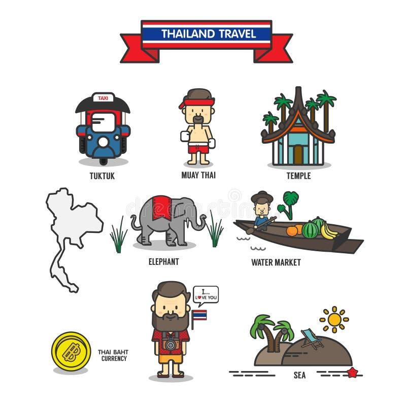 Thailand lopp royaltyfri illustrationer