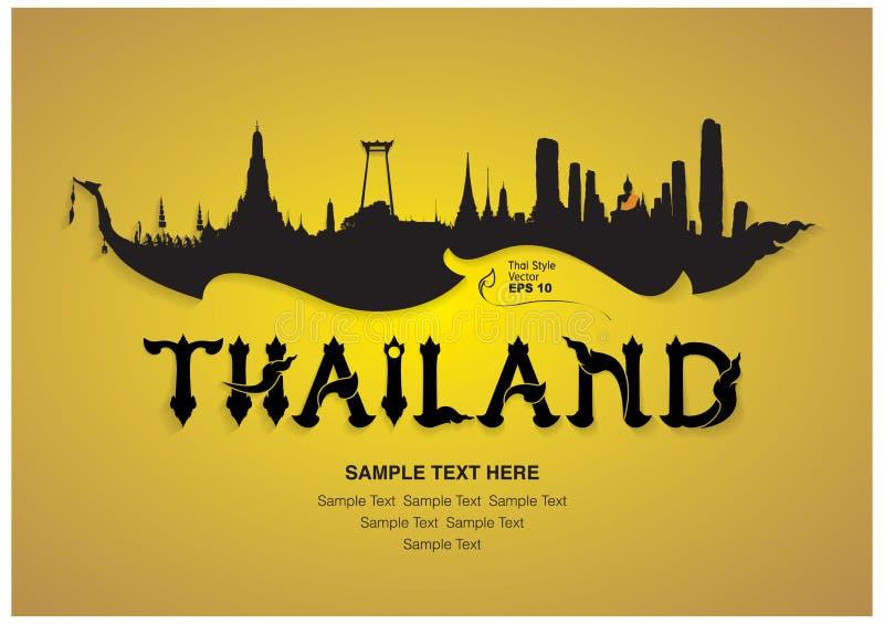 Thailand loppdesign royaltyfri illustrationer