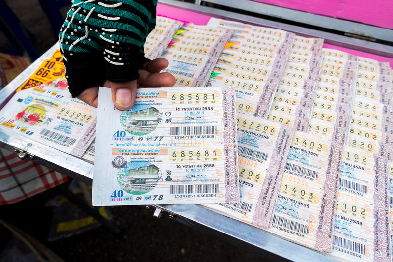 Thailand lottery ticket for sell stock photos