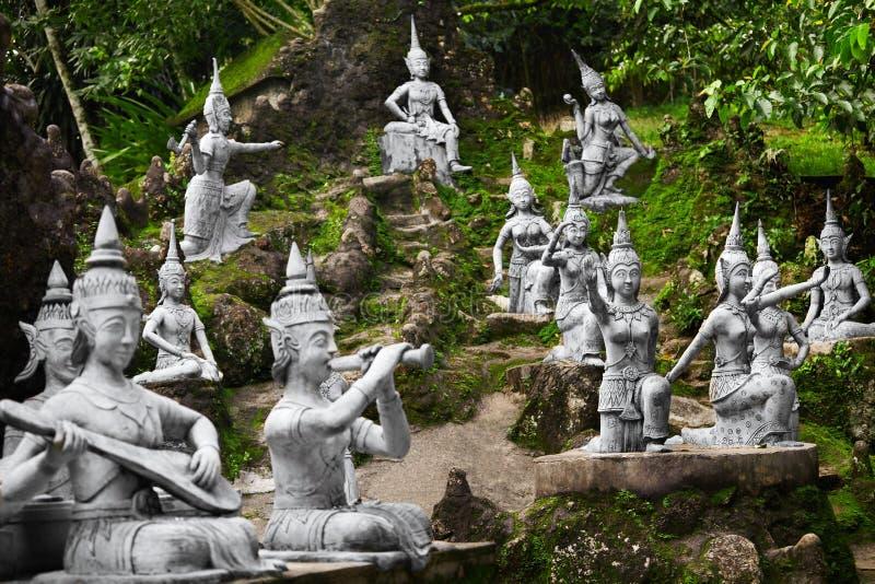 Magic Secret Buddha Garden Statues In Samui. Travel, T Stock Image