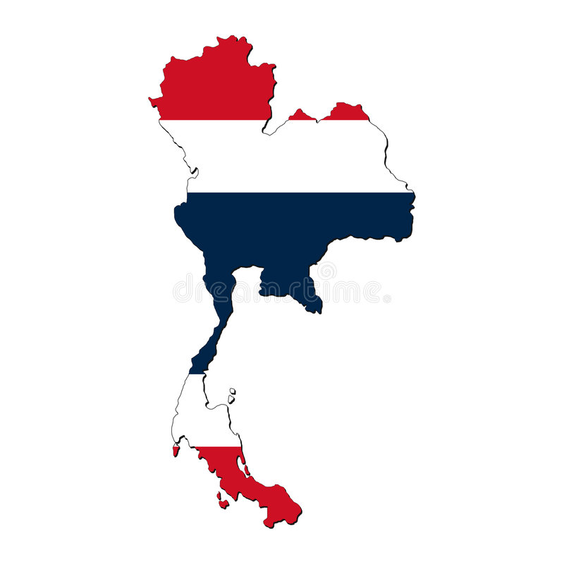 Thailand map flag stock illustration