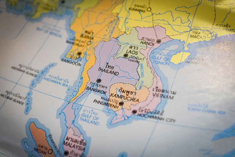 Map Of Asia Gulf Of Tonkin.Thai Map And Asia Map Stock Image Image Of Background 106988751