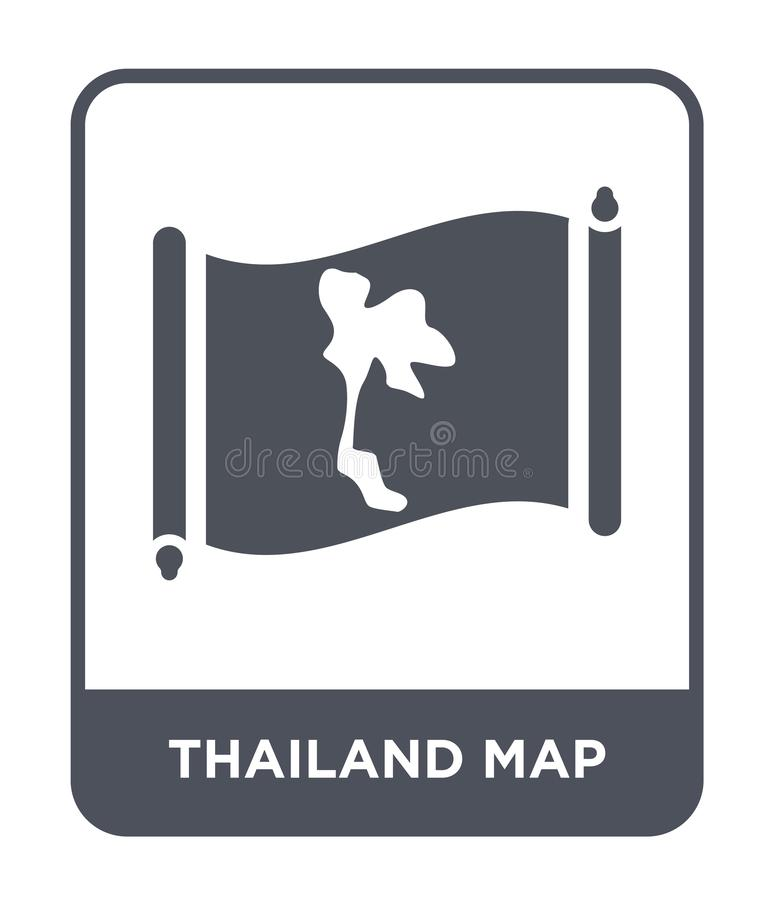 Thailand map icon in trendy design style. thailand map icon isolated on white background. thailand map vector icon simple and. Modern flat symbol for web site stock illustration