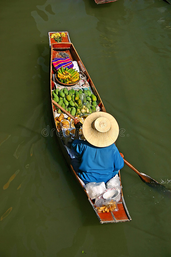 Download Thailand Markets Longboat Royalty Free Stock Photos - Image: 524388