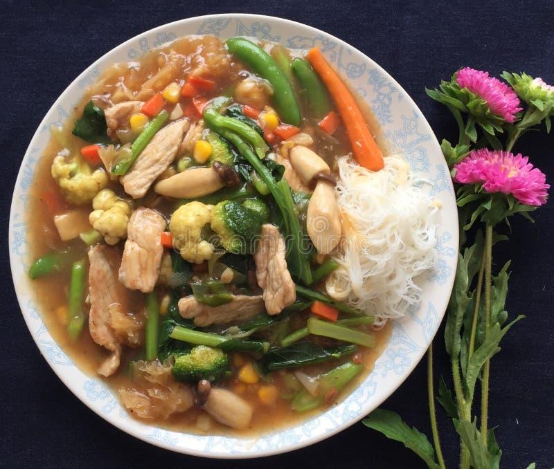Thailand mat arkivfoton