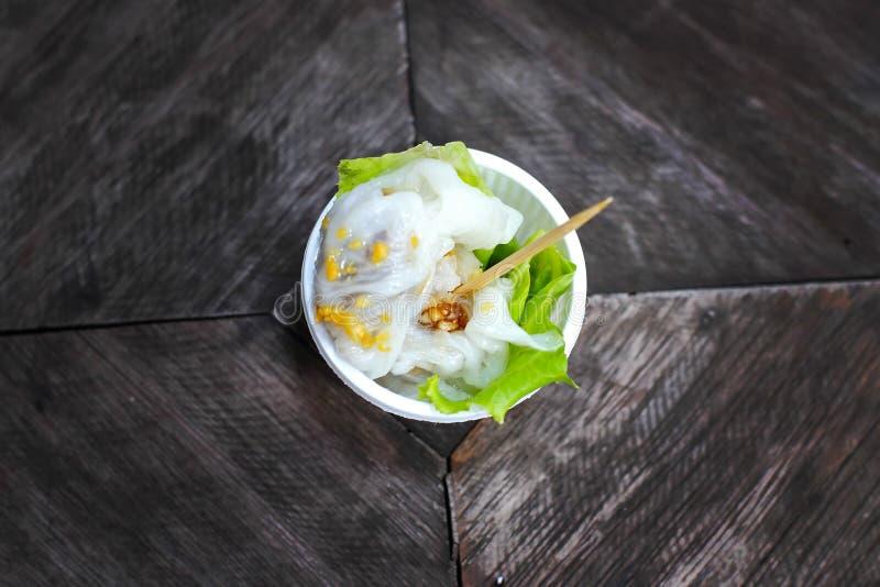 Thailand mat, sago på en tabell royaltyfri fotografi