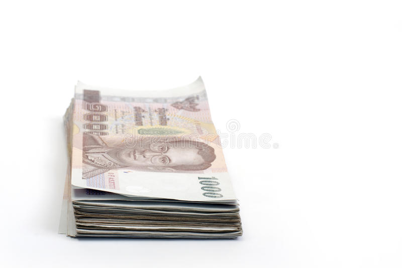 Thailand money banknotes isolated royalty free stock image