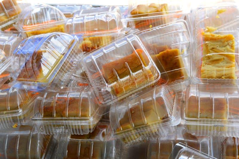Thailand-Nachtisch im Kasten lizenzfreies stockbild
