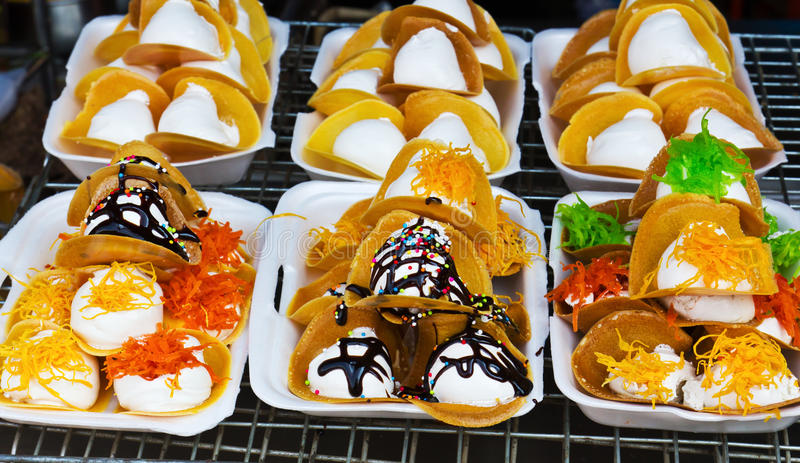 Thailand-Nachtischart stockfoto