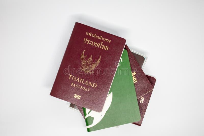 Thailand pass med vit bakgrund royaltyfri foto