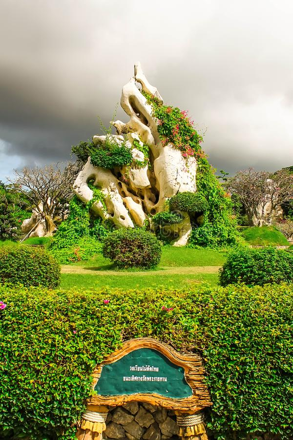 Thailand Pattaya de Miljoen van het Steenjaar Park stock fotografie