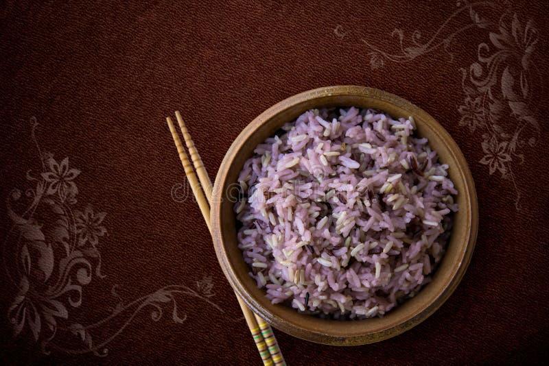Thailand, Reis - Getreideanlage, Reis - Nahrungskette, Schwarze Farbe, Bio lizenzfreie stockfotos
