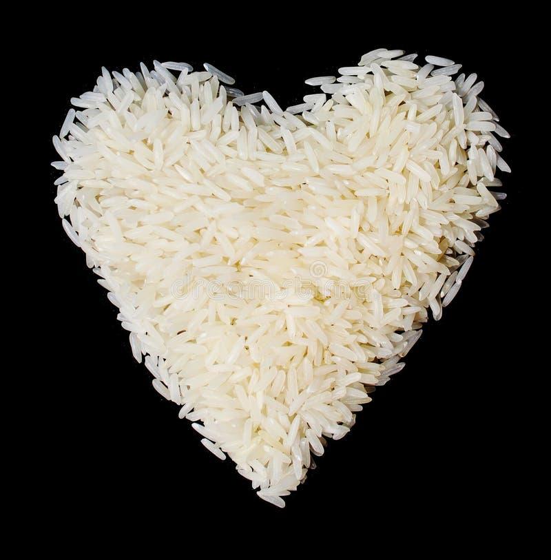 Thailand ris i hjärta formar på svart bakgrund red steg arkivfoto