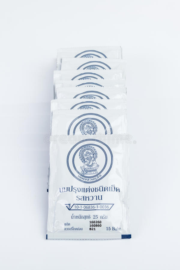 Thailand Royal Milk Tablets. stock images