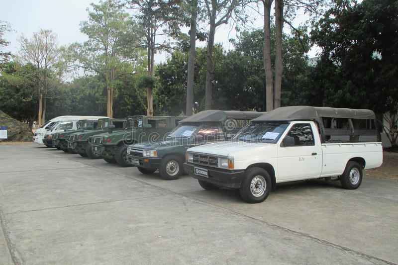 Thailand's army truck royalty free stock photos