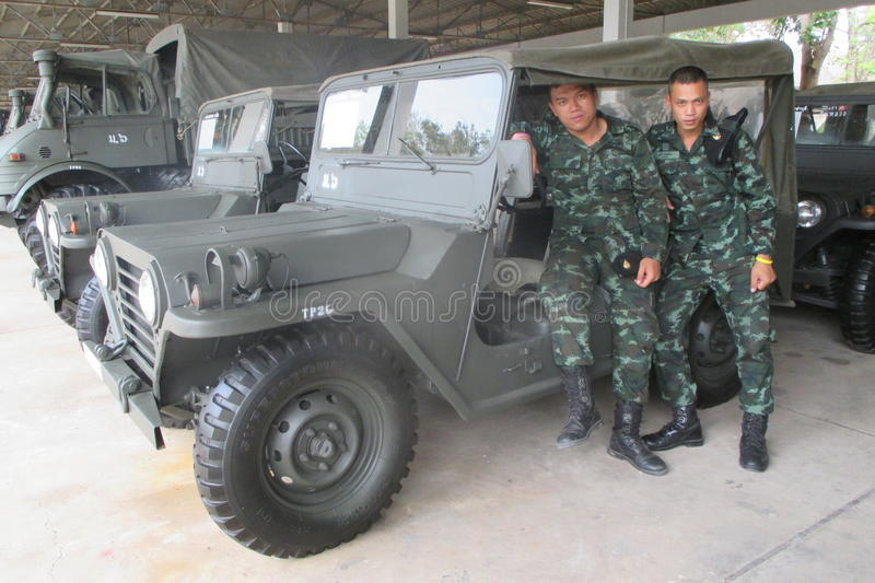 Thailand's army truck stock photography