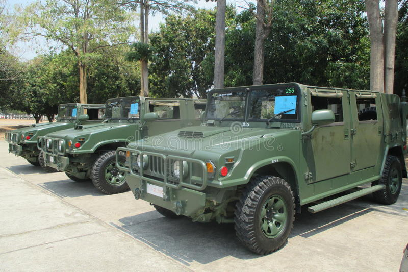 Thailand's army truck royalty free stock images