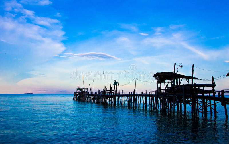 Thailand's fishing pier stock photos