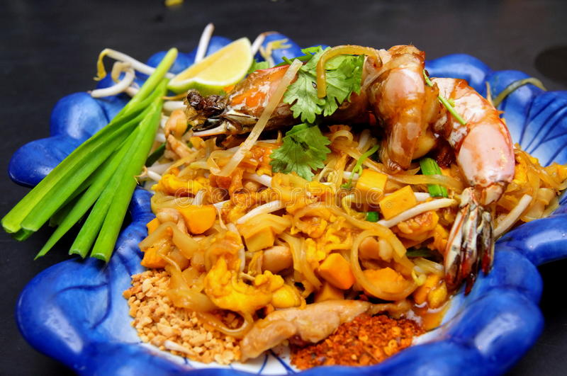 Thailand's fried rice noodle - Pad Thai stock image