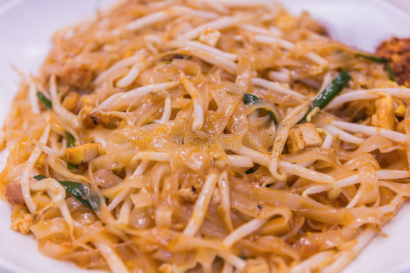 Thailand's national dishes, stir-fried noodles with egg, royalty free stock photos