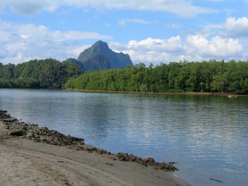 Download Thailand's Phang Nga Bay stock photo. Image of cloud, beach - 1452032