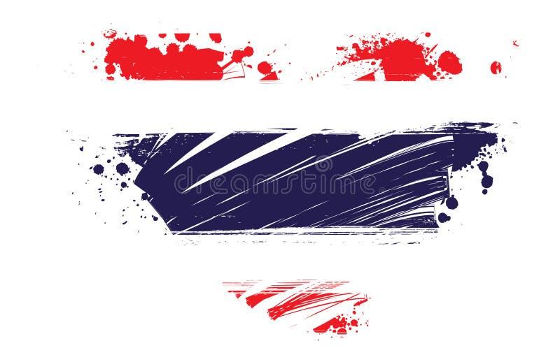 Thailand-Schmutzflagge in der Herzform vektor abbildung